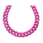 """42"""" Large Chains Hot Pink"""