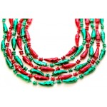 """33"""" Chili Pepper Beads Red and Green"""