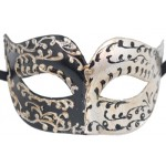 Black and Silver Cateye Mask