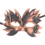 Black and Copper Flame Style Venetian Mask