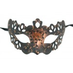 Black and Copper Venetian Lace Style Mask