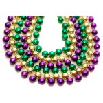 "100"" 18mm Round Beads Purple, Green, and Gold"