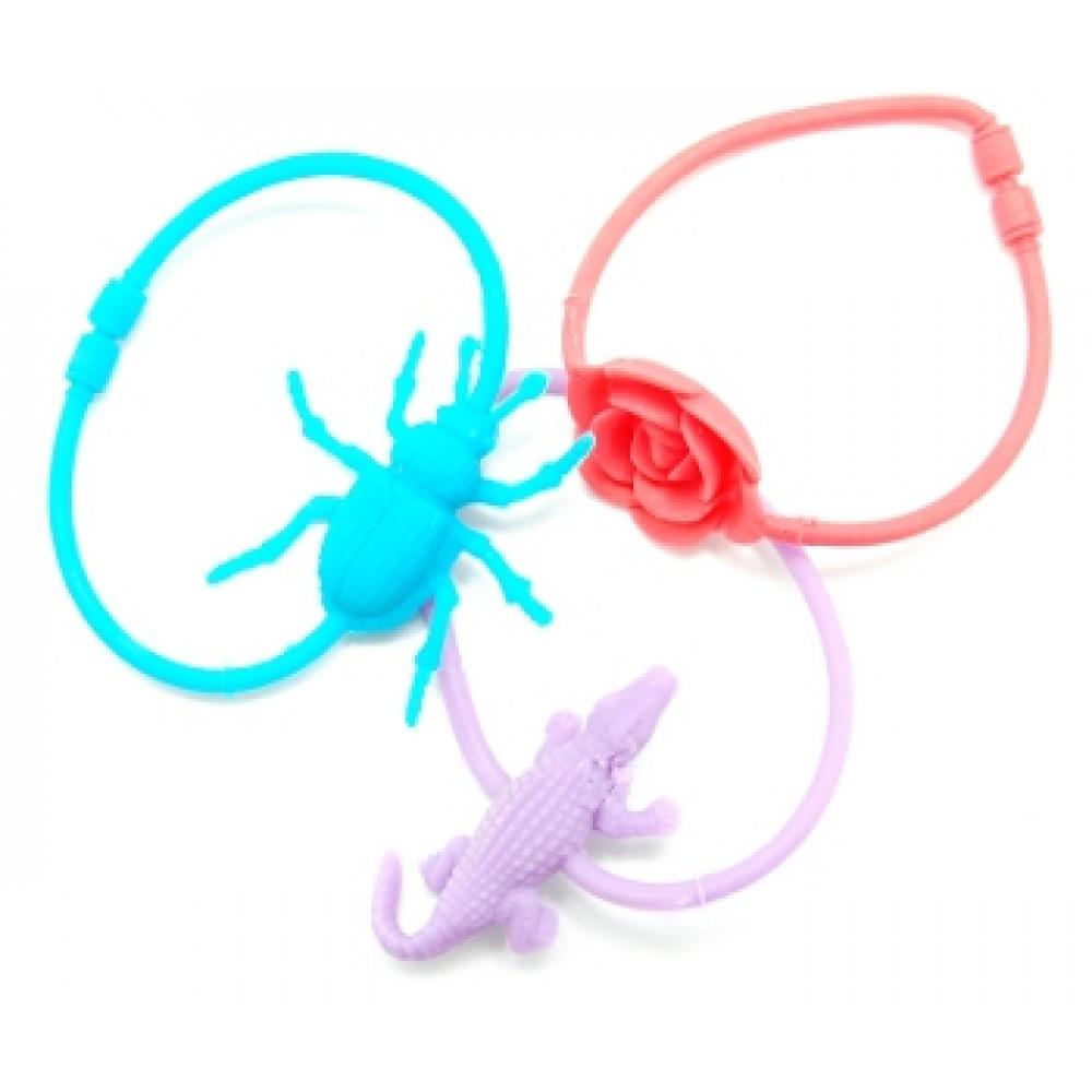 Assorted Neon Rubber Bracelets