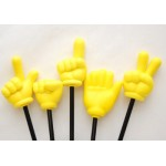 Assorted Yellow Fingers on Sticks