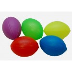 "2.5"" Plastic Footballs Assorted Colors"