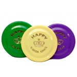 "7"" Purple, Green, and Gold Frisbees"