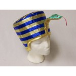 Egyptian Queen Hat Blue & Gold with Serpent