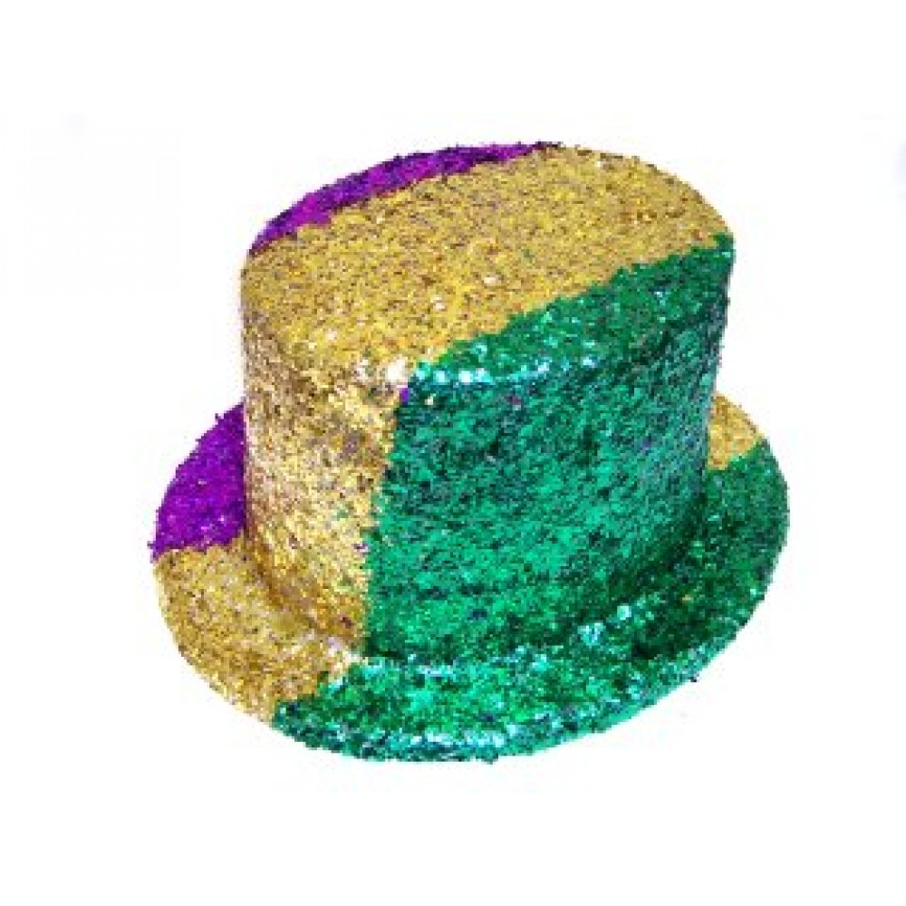 Top Hat Purple, Green and Gold Confetti