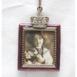 "3.25""x3"" Large Purple Square Hanging Frame"