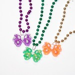 """33"""" Butterfly Bead Purple, Green and Gold"""
