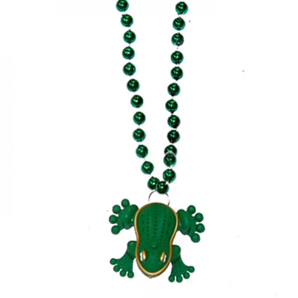 """33"""" Green Bead with Light Up Frog and Sound"""