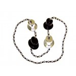 """42"""" Top Hats with Black and Silver Beads"""