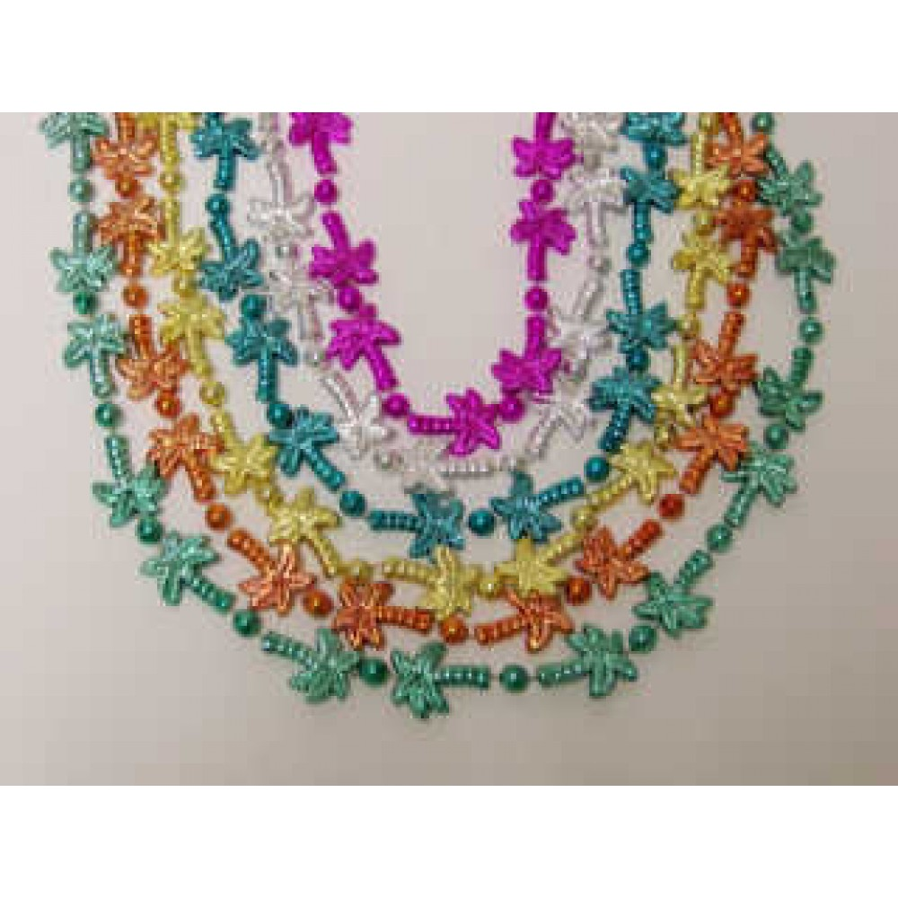 """33"""" Palm Tree Beads Assorted Colors"""