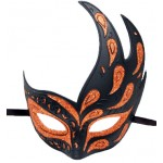 Black and Orange Upsweep Mask