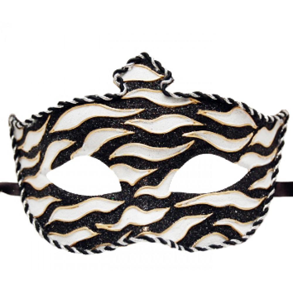 Black and White Striped Mask