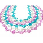 """40"""" Sea Creature Beads Pink, Blue, and Silver"""