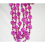 "40"" Hot Pink Hibiscus Throw Beads"