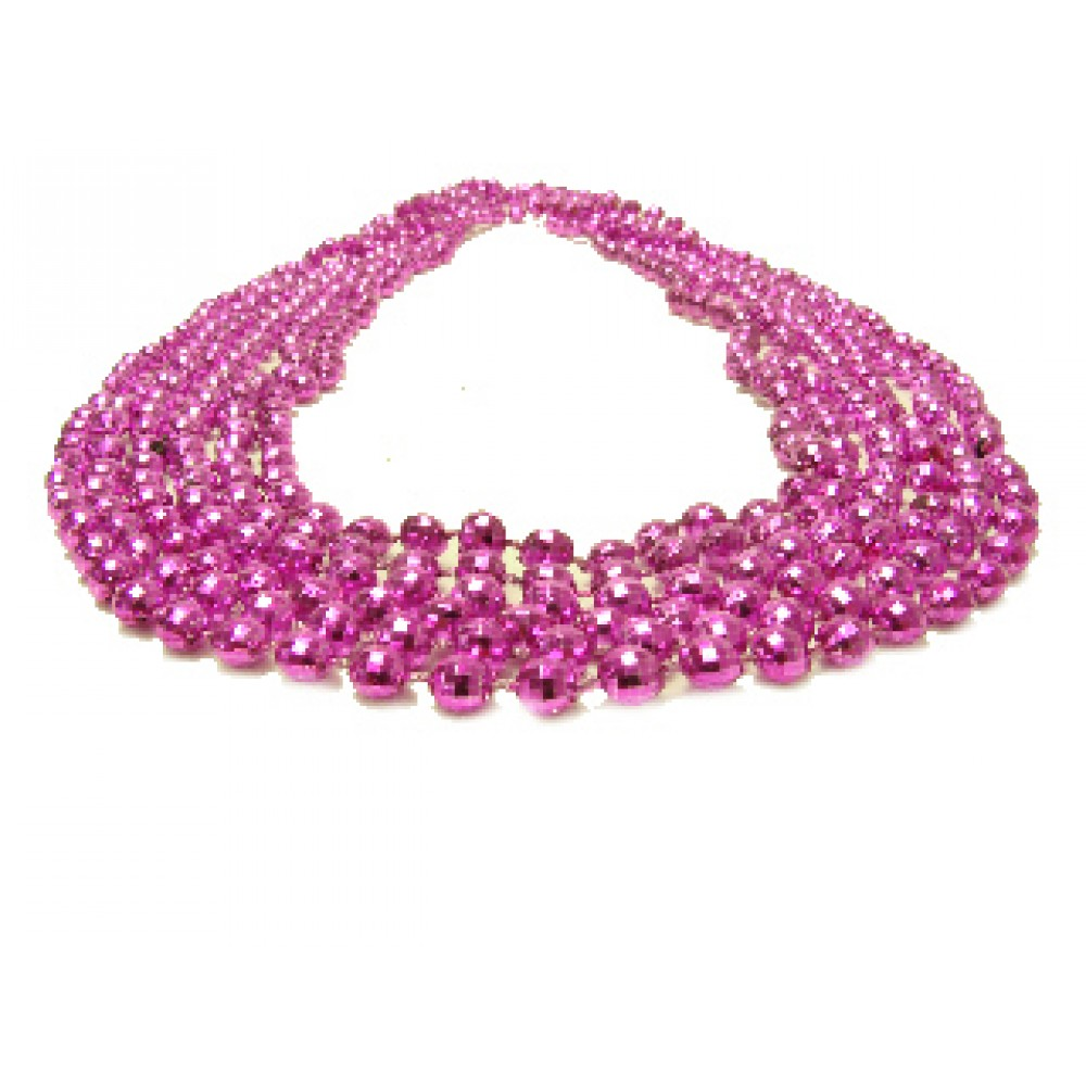 """33"""" 7mm Global Beads Hot Pink"""